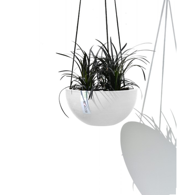 Γλάστρα Hanging Brussels White Grey Ecopots Grey